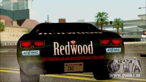 GTA 5 Bravado Gauntlet Redwood HQLM pour GTA San Andreas vue de droite