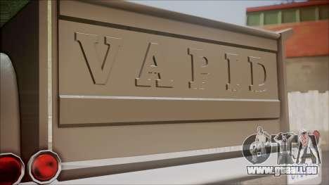 GTA 5 Vapid Slamvan Pickup pour GTA San Andreas vue arrière