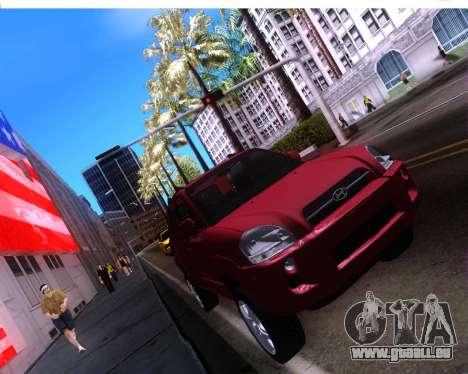 Hyundai Tucson für GTA San Andreas Rückansicht