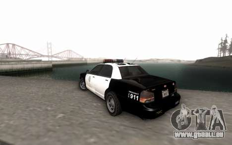 GTA 5 Stanier Police für GTA San Andreas linke Ansicht