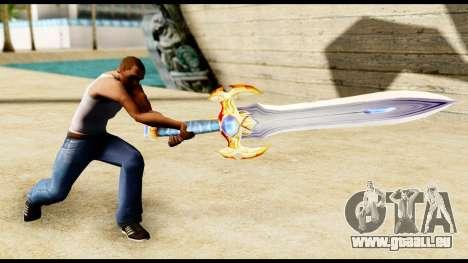 L'épée du paladin pour GTA San Andreas troisième écran