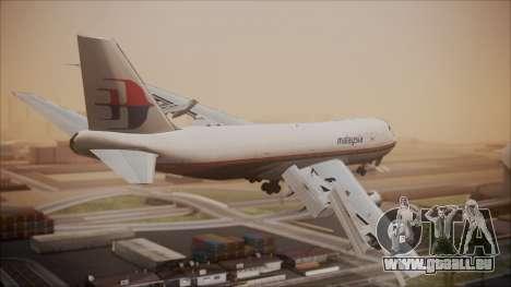 Boeing 747-200 Malaysia Airlines pour GTA San Andreas laissé vue