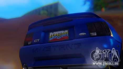Ford Mustang 1999 Clean pour GTA San Andreas vue de côté