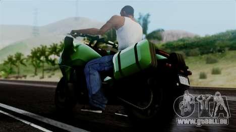 Dinka Vindicator GTA 5 Plate pour GTA San Andreas sur la vue arrière gauche