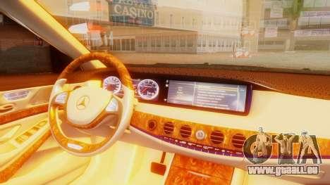 Mercedes-Benz S63 W222 AMG pour GTA San Andreas vue de droite
