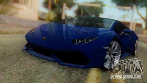 Lamborghini Huracan 2015 pour GTA San Andreas