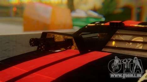 Shelby GT500 Death Race für GTA San Andreas Rückansicht
