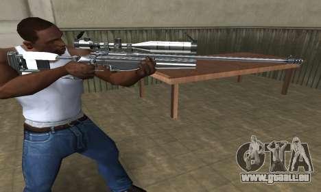 Full Silver Sniper Rifle für GTA San Andreas