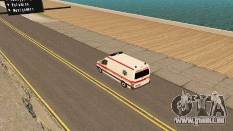Mercedes-Benz Sprinter Krankenwagen Ukraine für GTA San Andreas rechten Ansicht