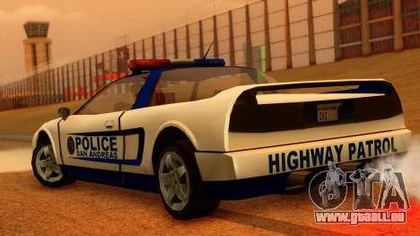 Police Infernus für GTA San Andreas linke Ansicht