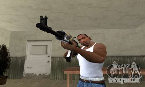 Cool Black AK-47 für GTA San Andreas zweiten Screenshot