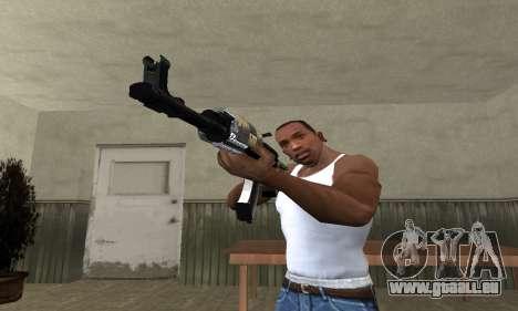 Cool Black AK-47 pour GTA San Andreas deuxième écran