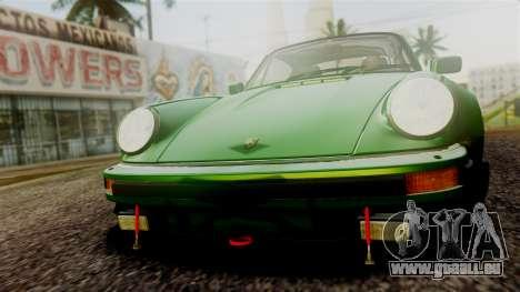 Porsche 911 Turbo (930) 1985 Kit A PJ für GTA San Andreas obere Ansicht