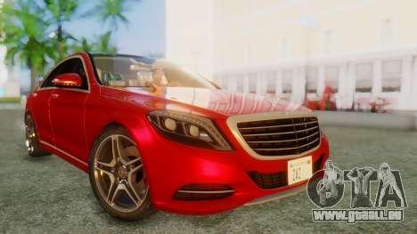 Mercedes-Benz S63 W222 AMG pour GTA San Andreas