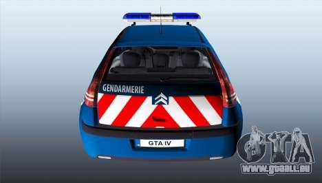 Citroen C4 Gendarmerie [ELS] pour GTA 4 Vue arrière de la gauche