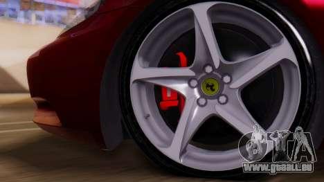 Ferrari California v2.0 für GTA San Andreas rechten Ansicht