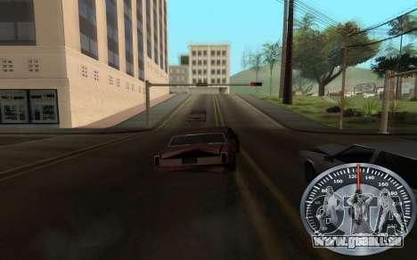 De fer de l'indicateur de vitesse pour GTA San Andreas quatrième écran