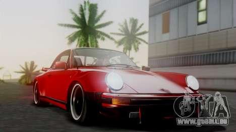 Porsche 911 Turbo (930) 1985 Kit A pour GTA San Andreas vue de dessus