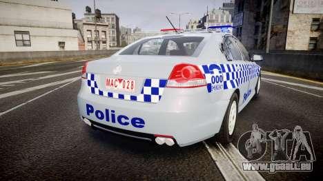 Holden Commodore Omega Victoria Police [ELS] für GTA 4 hinten links Ansicht