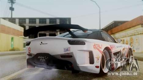 Mazda RX-7 Veilside Mugi Itasha für GTA San Andreas linke Ansicht