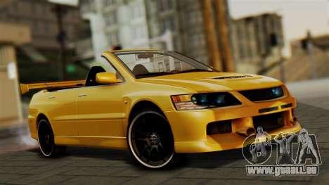 Mitsubishi Lancer Evolution 2015 pour GTA San Andreas