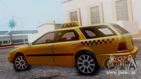 Stratum Taxi pour GTA San Andreas sur la vue arrière gauche
