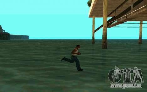 Zu Fuß auf dem Wasser für GTA San Andreas her Screenshot