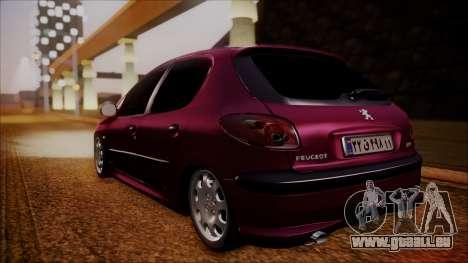 Peugeot 206 Al Piso für GTA San Andreas zurück linke Ansicht