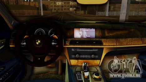 BMW 7 Series F02 2013 pour GTA San Andreas vue de droite