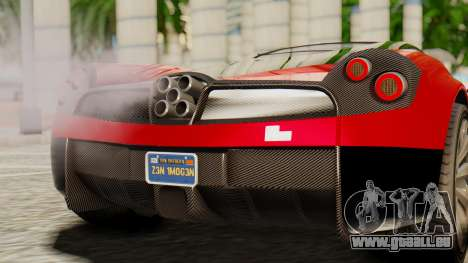 Pegassi Osyra pour GTA San Andreas vue arrière