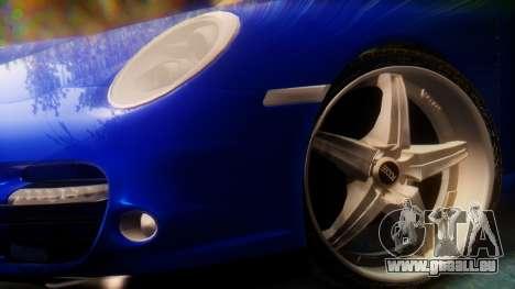 Porsche 911 2010 Cabrio pour GTA San Andreas sur la vue arrière gauche