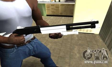 White with Black Shotgun pour GTA San Andreas