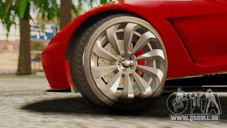Pegassi Osyra pour GTA San Andreas sur la vue arrière gauche