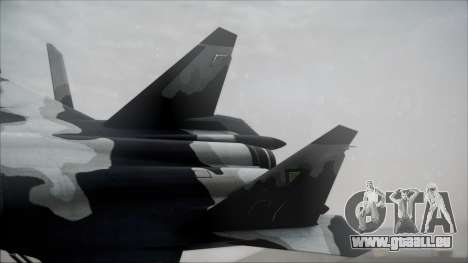 SU-47 Berkut Grabacr Ace Combat 5 pour GTA San Andreas sur la vue arrière gauche