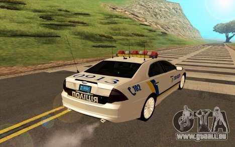 Ford Taurus Ukraine Police für GTA San Andreas rechten Ansicht