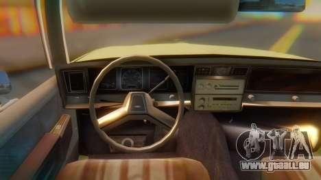 Chevrolet Caprice pour GTA San Andreas vue de droite