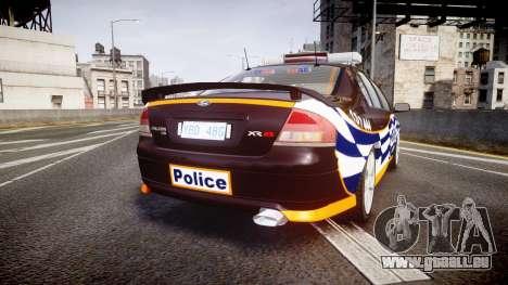 Ford Falcon BA XR8 Highway Patrol [ELS] für GTA 4 hinten links Ansicht