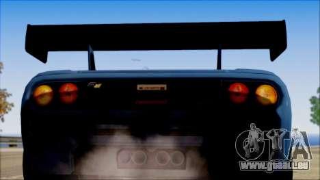 McLaren F1 LM 1995 pour GTA San Andreas vue de droite