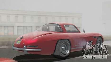 GTA 5 Benefactor Stirling pour GTA San Andreas sur la vue arrière gauche