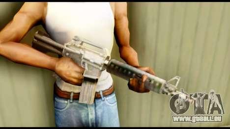 M4 Fixed pour GTA San Andreas troisième écran
