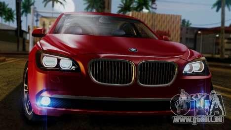BMW 7 Series F02 2013 pour GTA San Andreas vue de côté