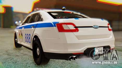 Ford Taurus Iraq Police v2 pour GTA San Andreas laissé vue