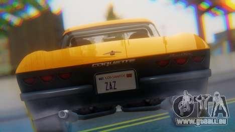 Invetero Coquette BlackFin Not Convertible pour GTA San Andreas vue arrière