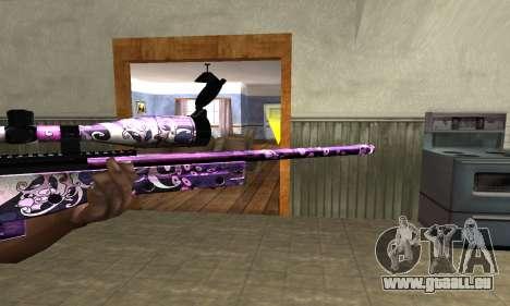 Neon Sniper Rifle pour GTA San Andreas deuxième écran