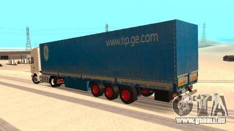 Tilt trailer für GTA San Andreas linke Ansicht