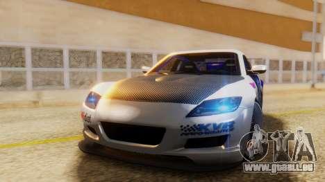 Mazda RX-8 Tuned Black Rock Shooter Itasha pour GTA San Andreas