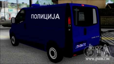 Opel Vivaro Policija pour GTA San Andreas laissé vue