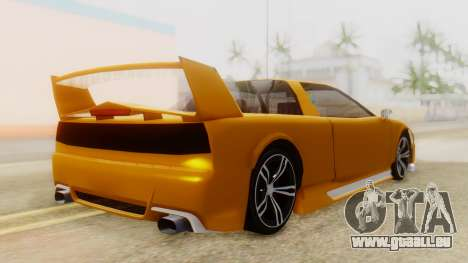 Infernus BMW Revolution with Spoiler für GTA San Andreas linke Ansicht