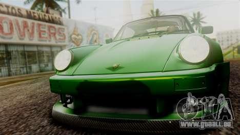 Porsche 911 Turbo (930) 1985 Kit A PJ für GTA San Andreas Unteransicht