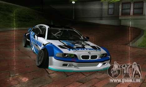 BMW M3 E46 ToyoTires GT-SHOP pour GTA San Andreas vue de droite